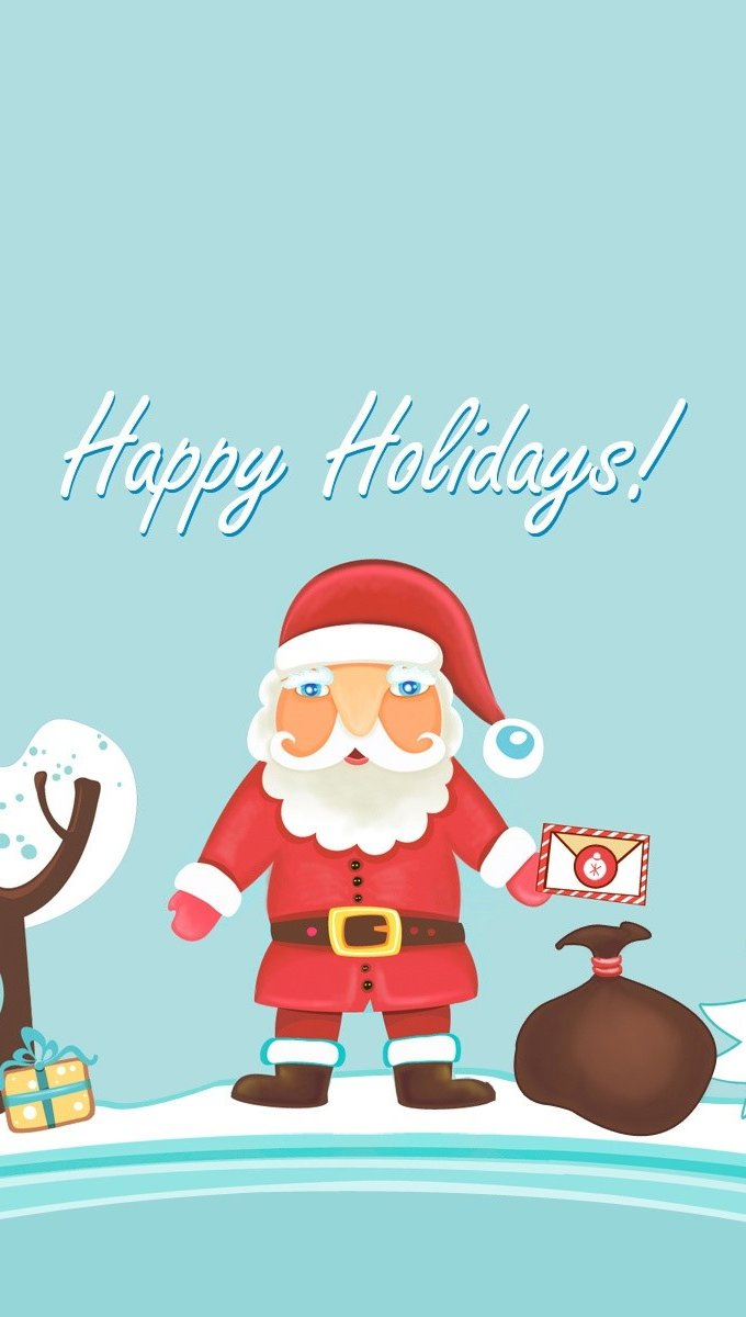 Wallpaper Santa Claus Vertical