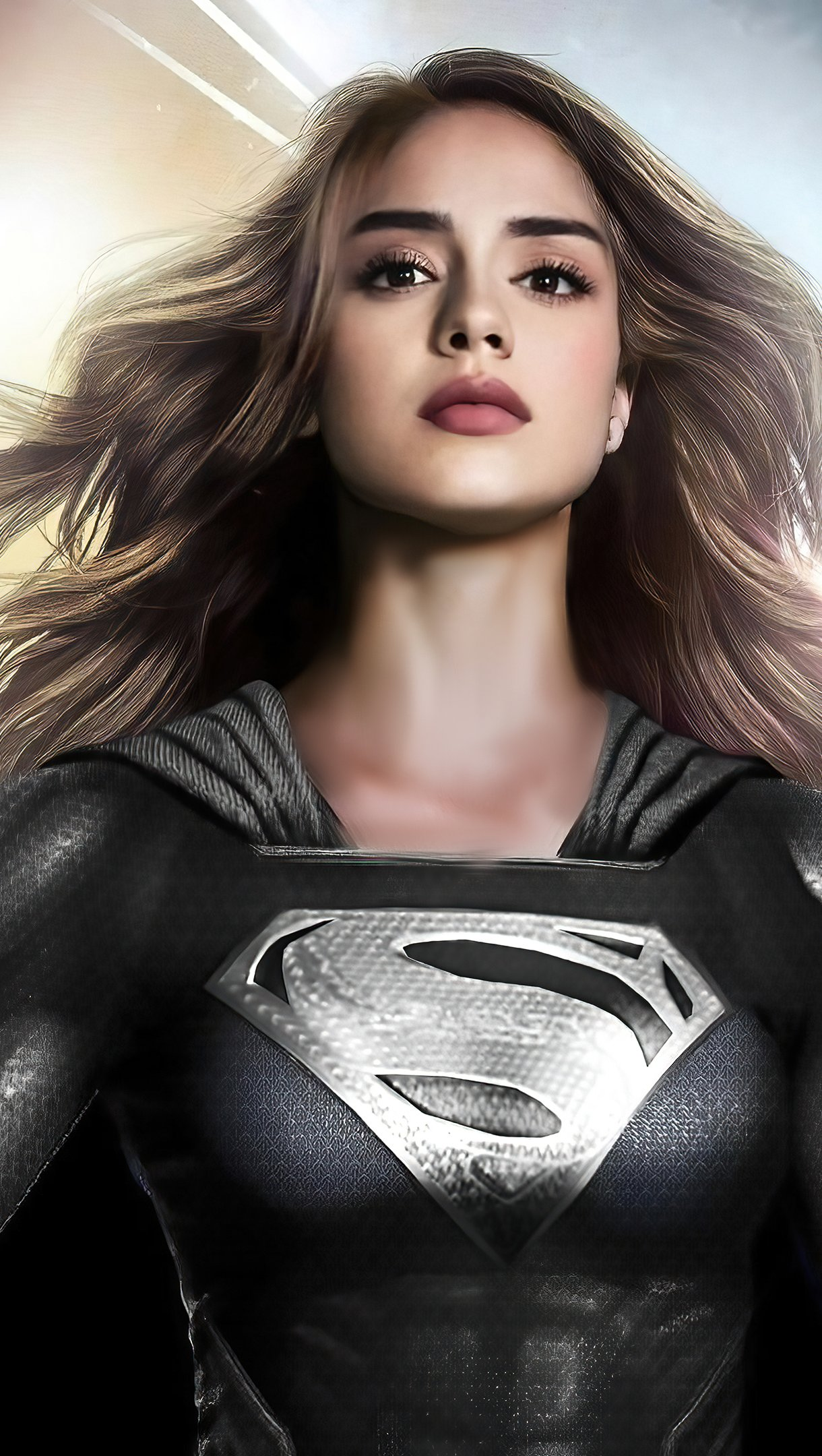 Wallpaper Sasha Calle as Supergirl Fanart Vertical