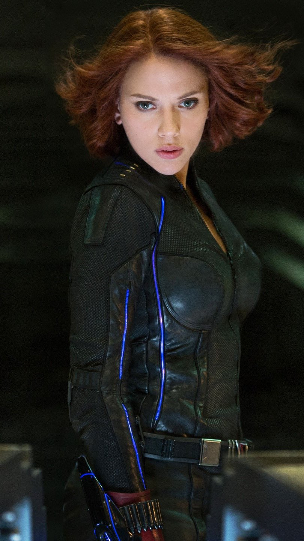 Wallpaper Scarlett Johansson as a Black Widow Vertical