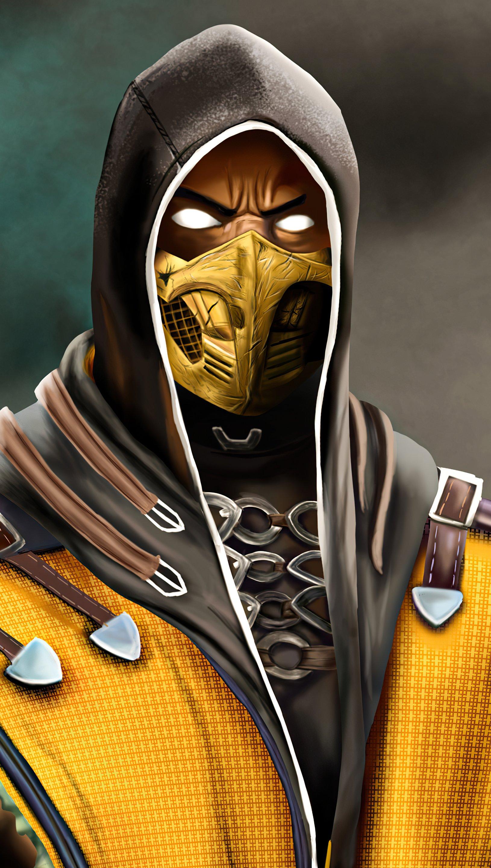 Wallpaper Scorpion from Mortal Kombat 2021 Vertical