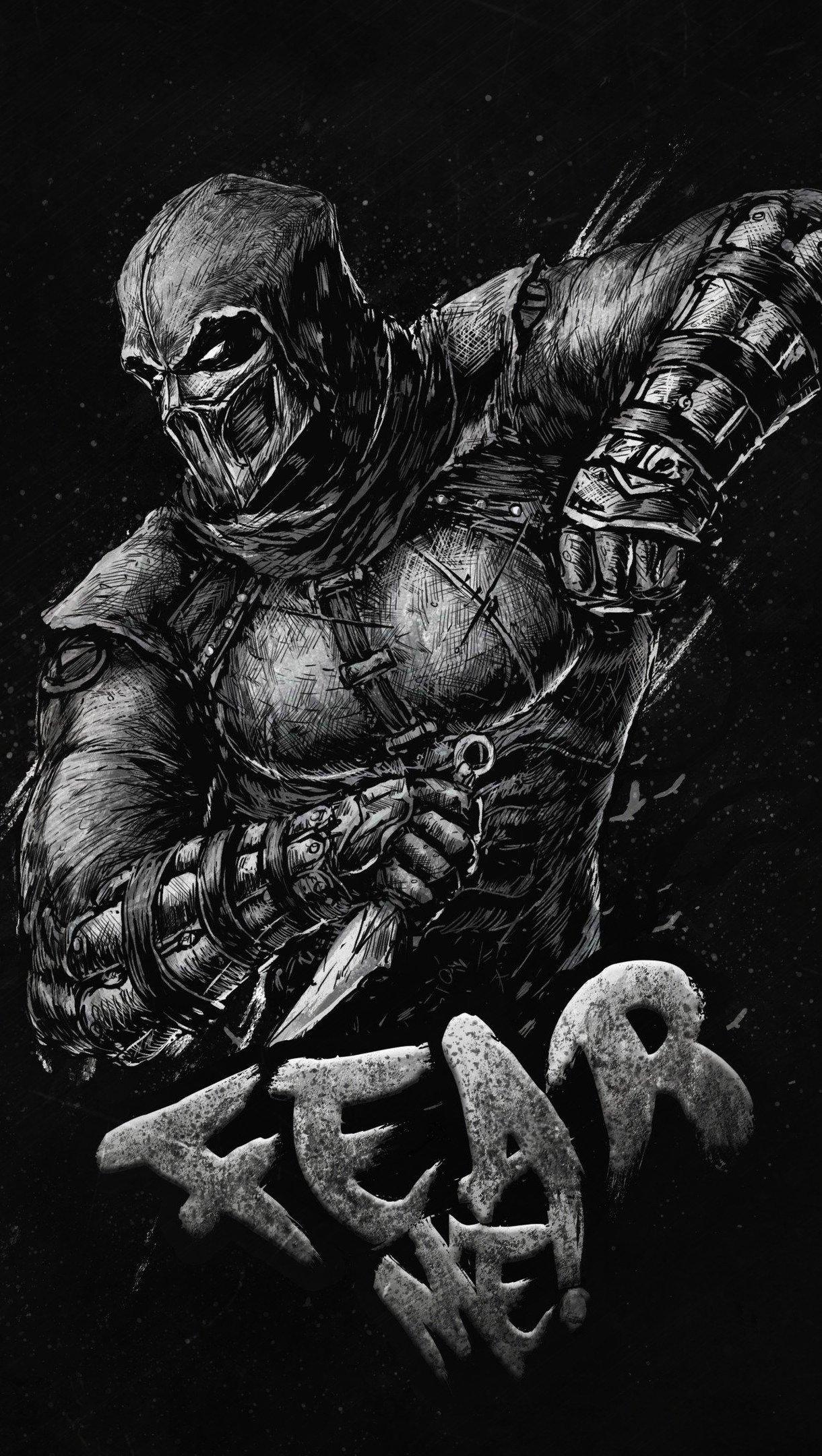 Wallpaper Scorpion of Mortal Kombat Vertical