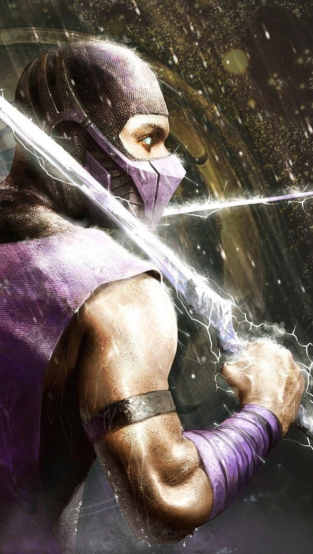 Wallpaper Scorpion in Mortal Kombat Vertical