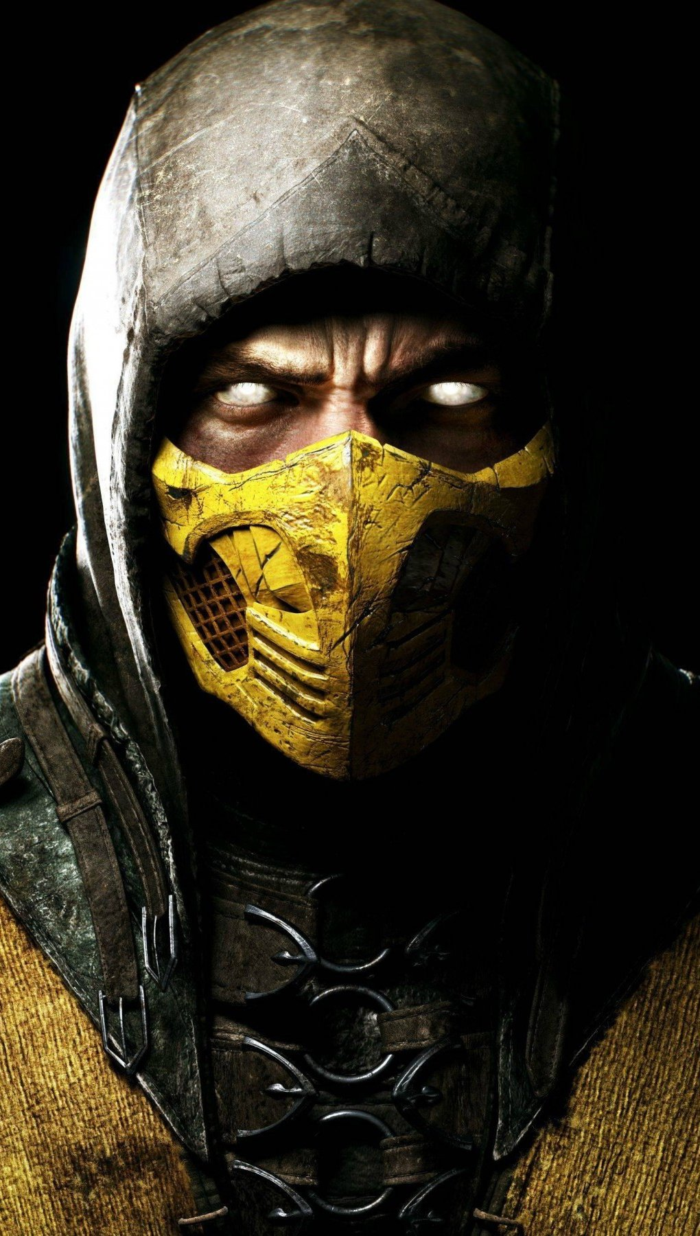 Wallpaper Scorpion in Mortal Kombat X Vertical