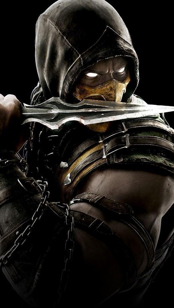Wallpaper Scorpion Mortal Kombat X Vertical