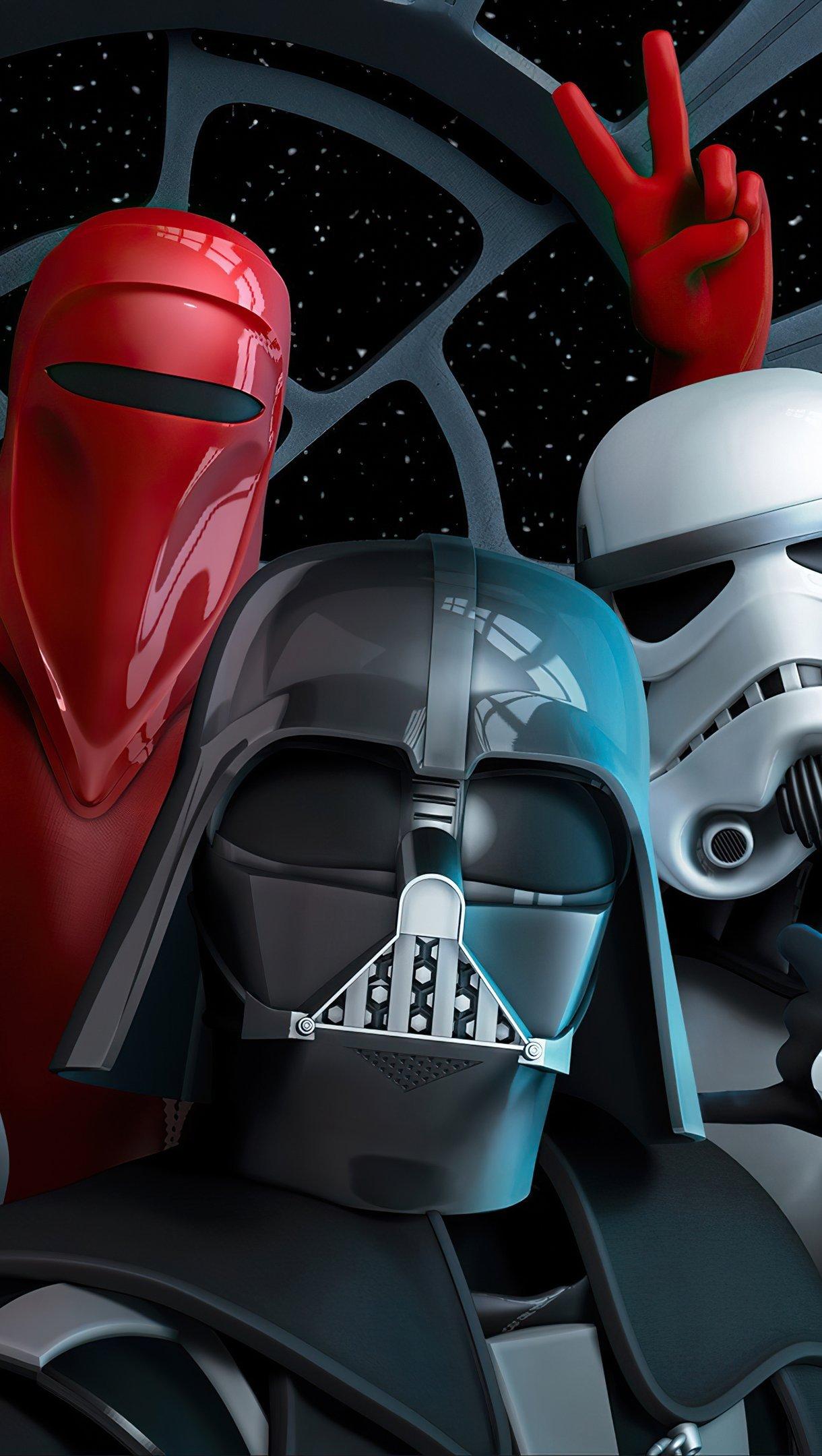 Fondos de pantalla Selfie de Star Wars Venganza de los cinco Vertical