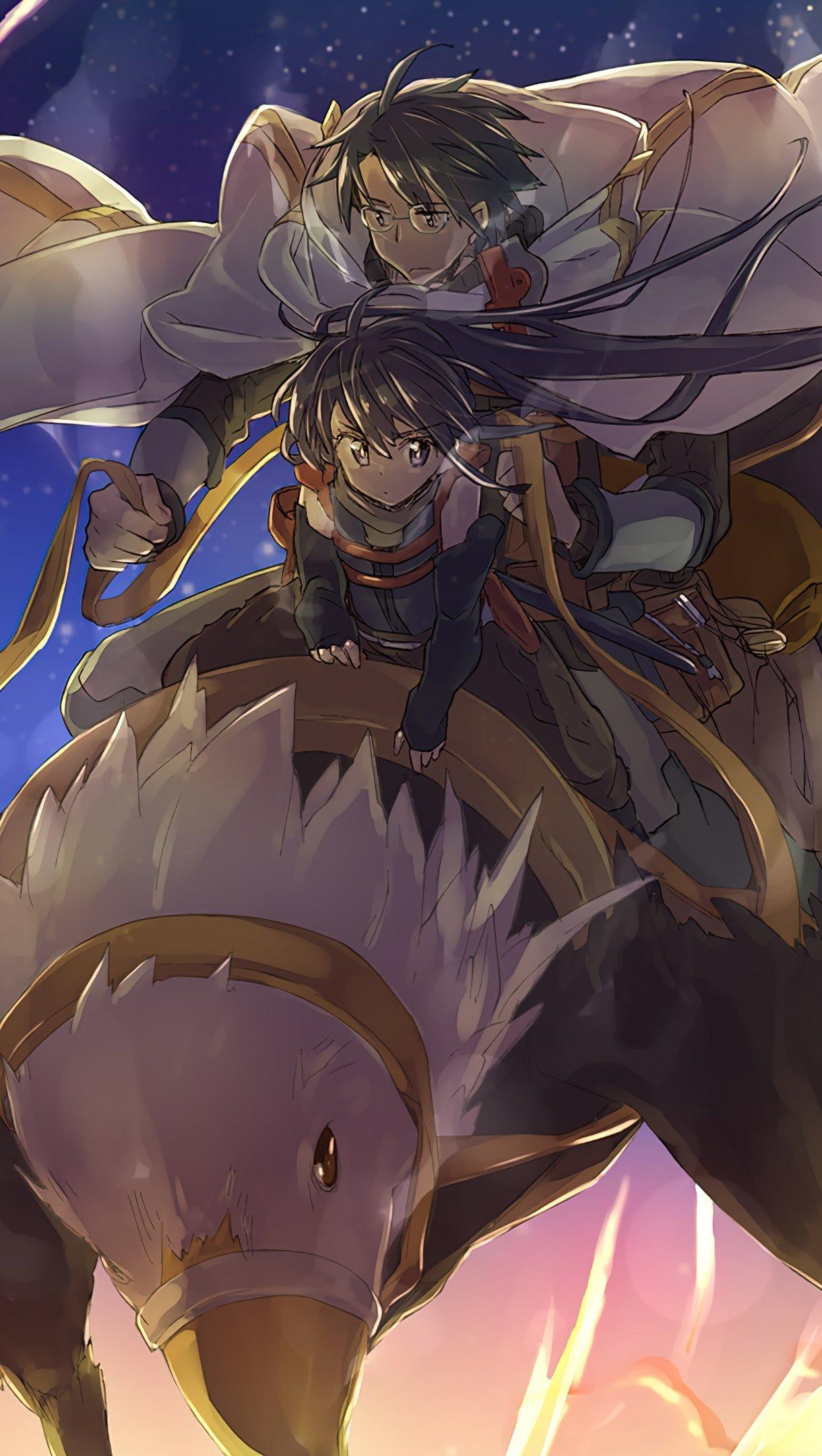 Fondos de pantalla Anime Shiroe y Akaktsuki en un grifo Log Horizon Vertical