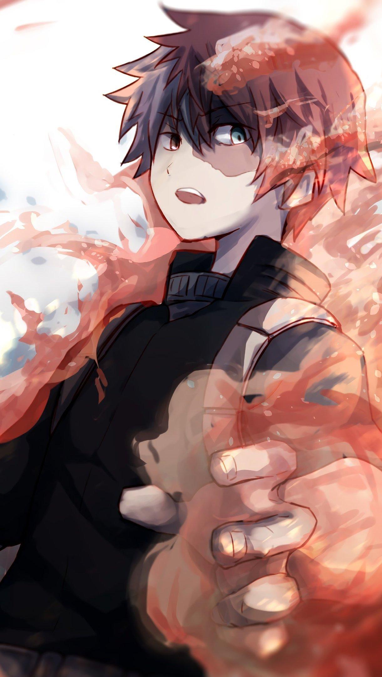 Anime Wallpaper Shouto Todoroki My Hero Academia Vertical