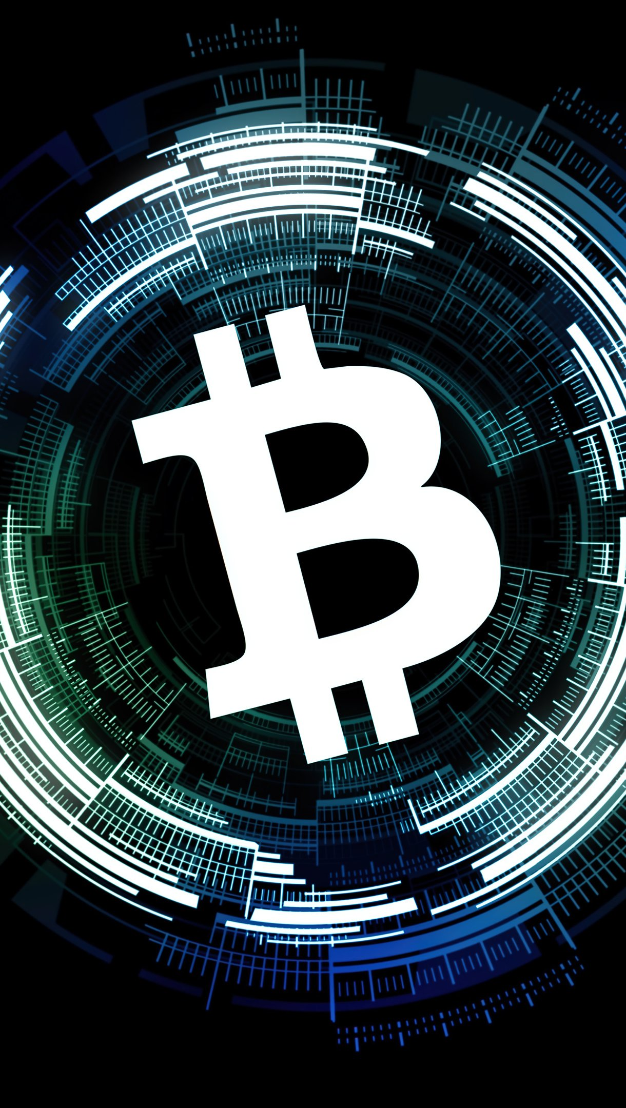 Fondos de pantalla Signo de Bitcoin Vertical