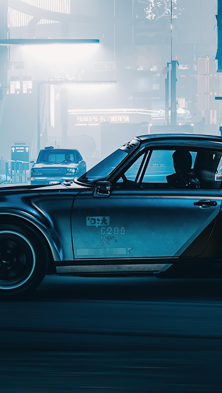 Fondos de pantalla Silverhand Porsche Cyberpunk 2077 Vertical
