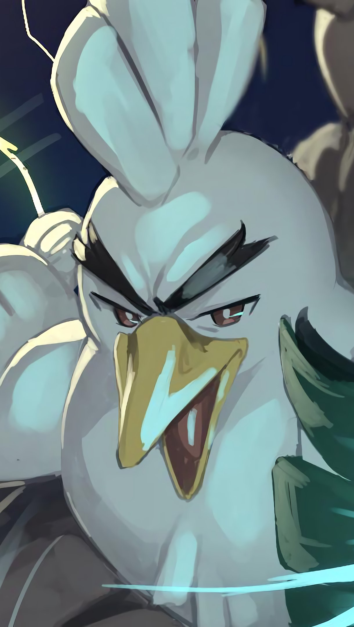 Anime Wallpaper Sirfetch'd from Pokemon Sword and Shield Vertical