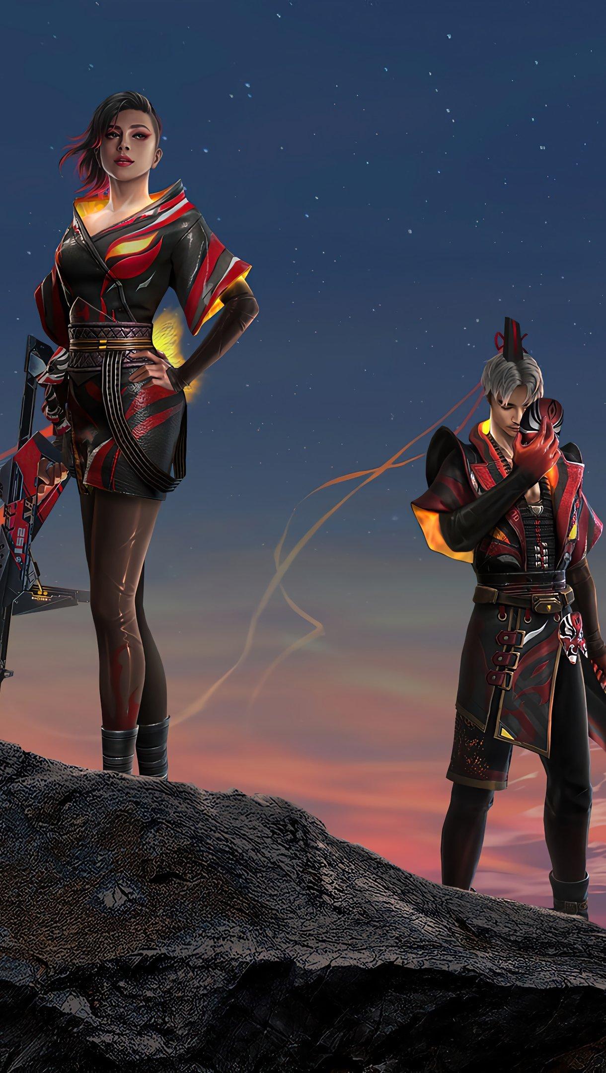 Fondos de pantalla Skins de personajes de Garena Free Fire Vertical