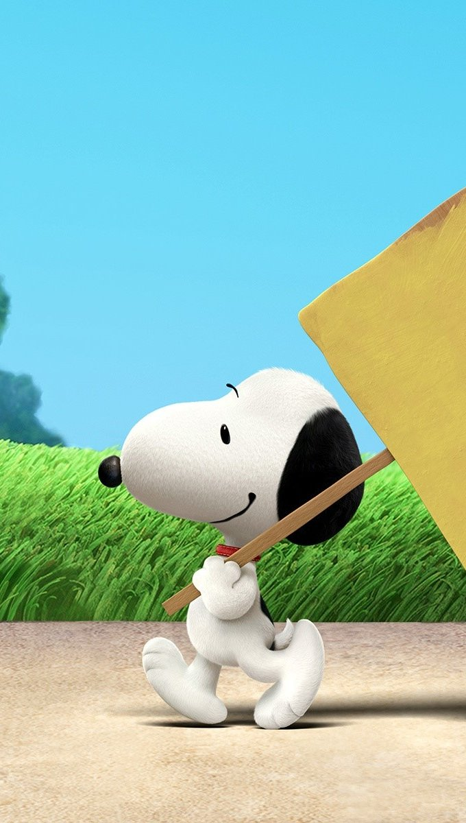 Wallpaper Snoopy the movie Vertical
