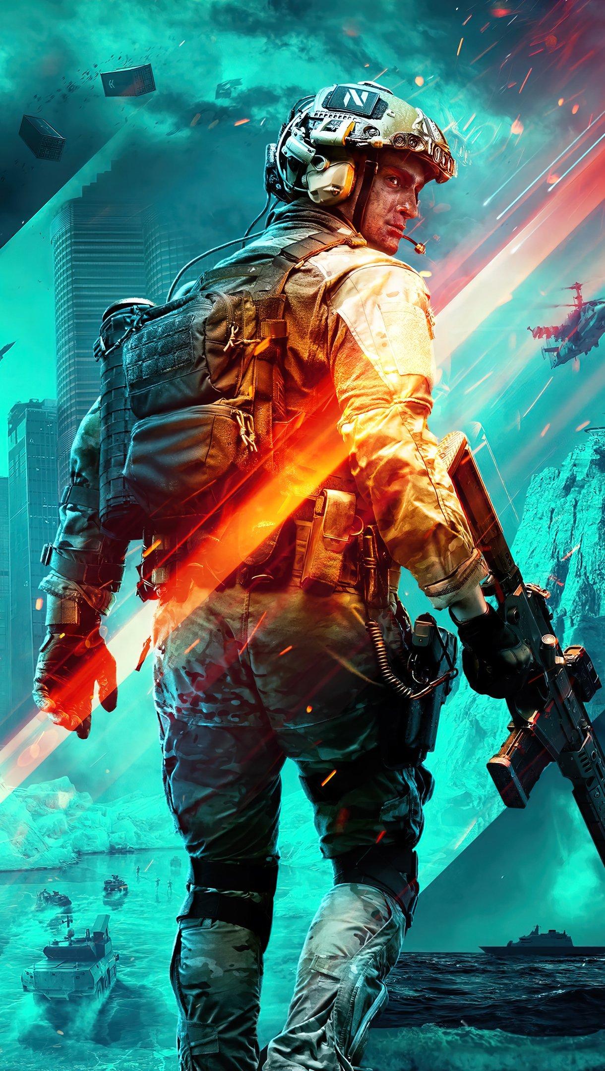 Wallpaper Soldier from Battlefield 2042 Vertical