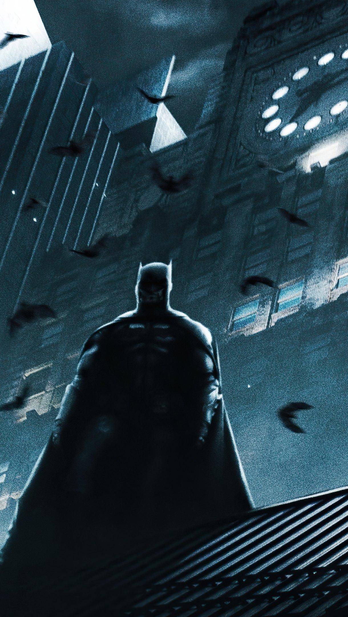 Fondos de pantalla Sombra de Batman en la lluvia Vertical