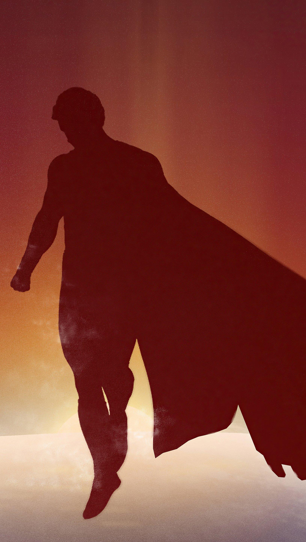 Fondos de pantalla Sombra de Superman diseño minimalista Vertical