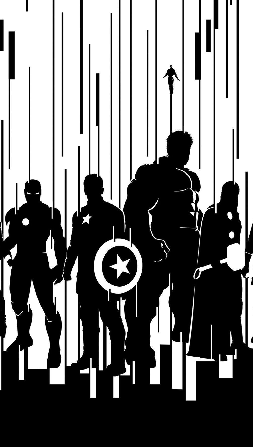 Wallpaper Shadows of the Avengers Vertical