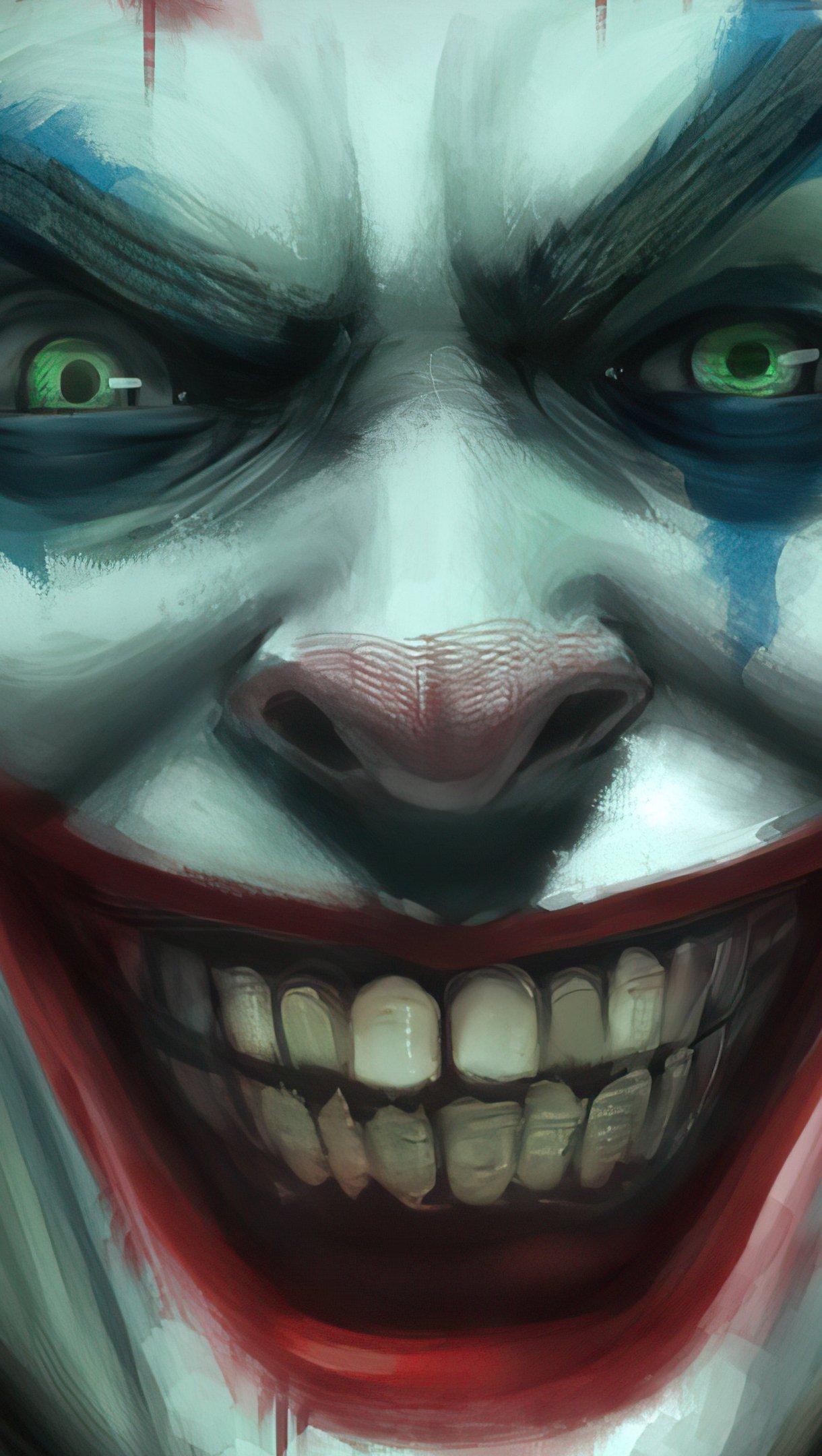 Wallpaper Joker's smile Vertical