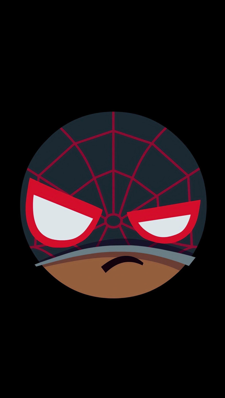Fondos de pantalla Spider Man enojado Minimalista Vertical