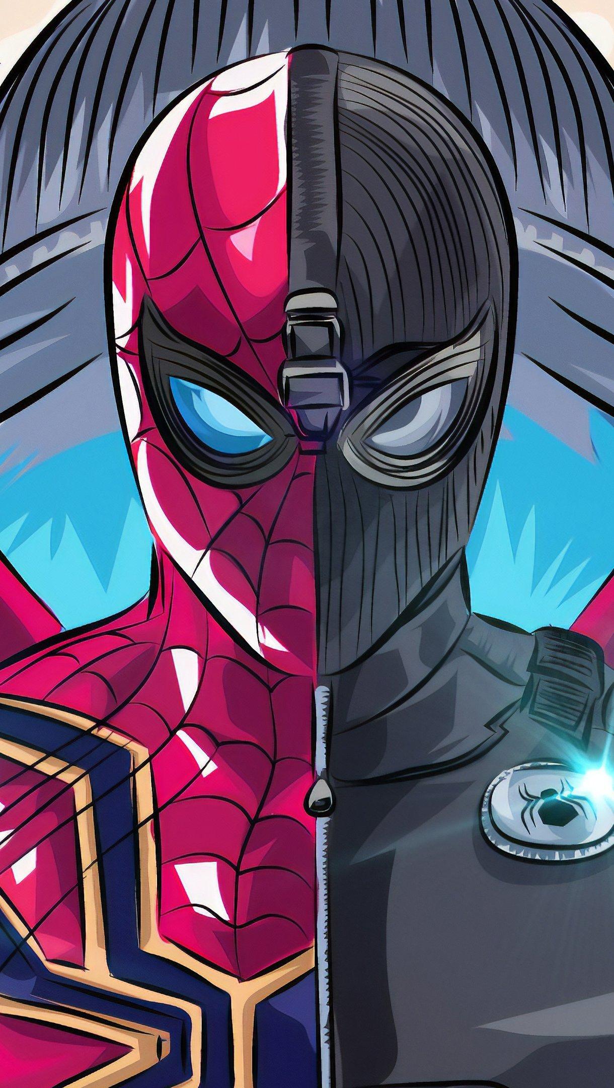 Wallpaper Spider Man Far From Home Fan Art Vertical