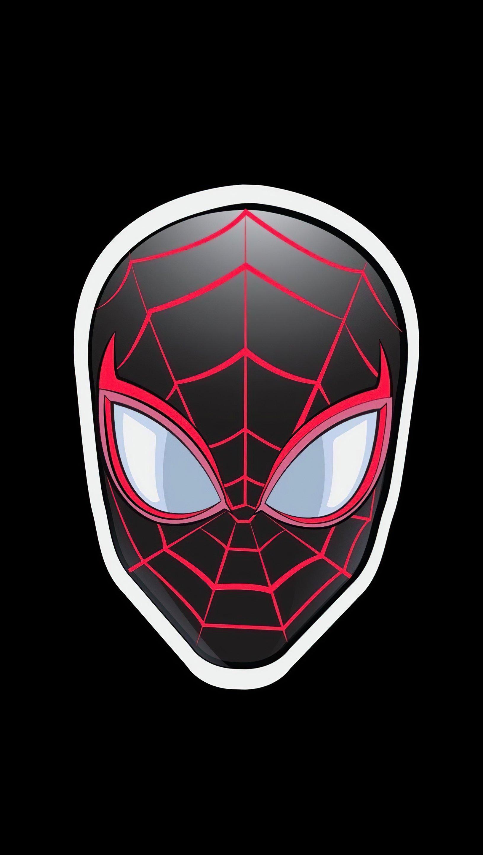 Fondos de pantalla Spider Man Sticker Minimalista Vertical
