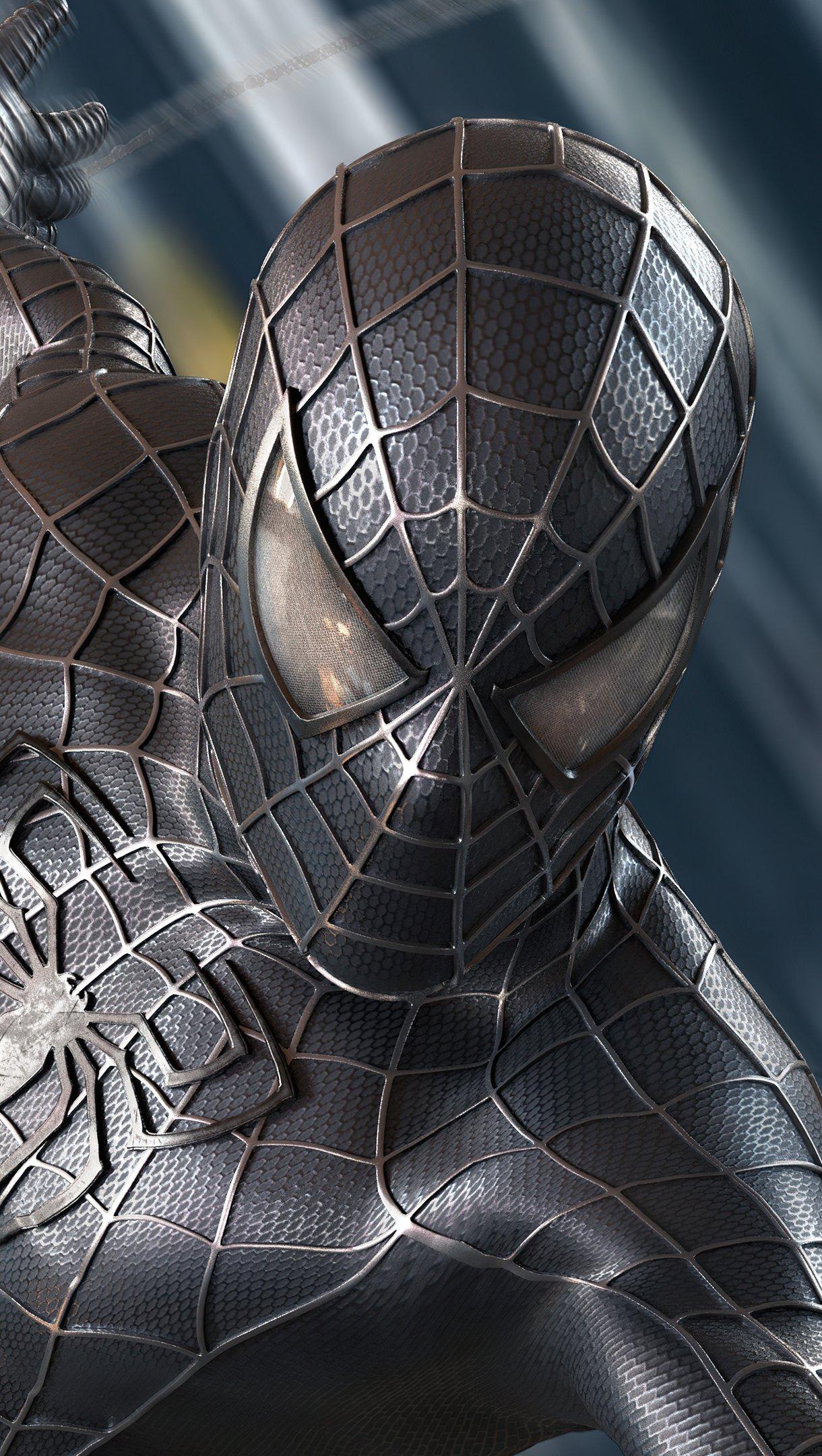 Fondos de pantalla Spider Man Traje negro Symbiote Vertical