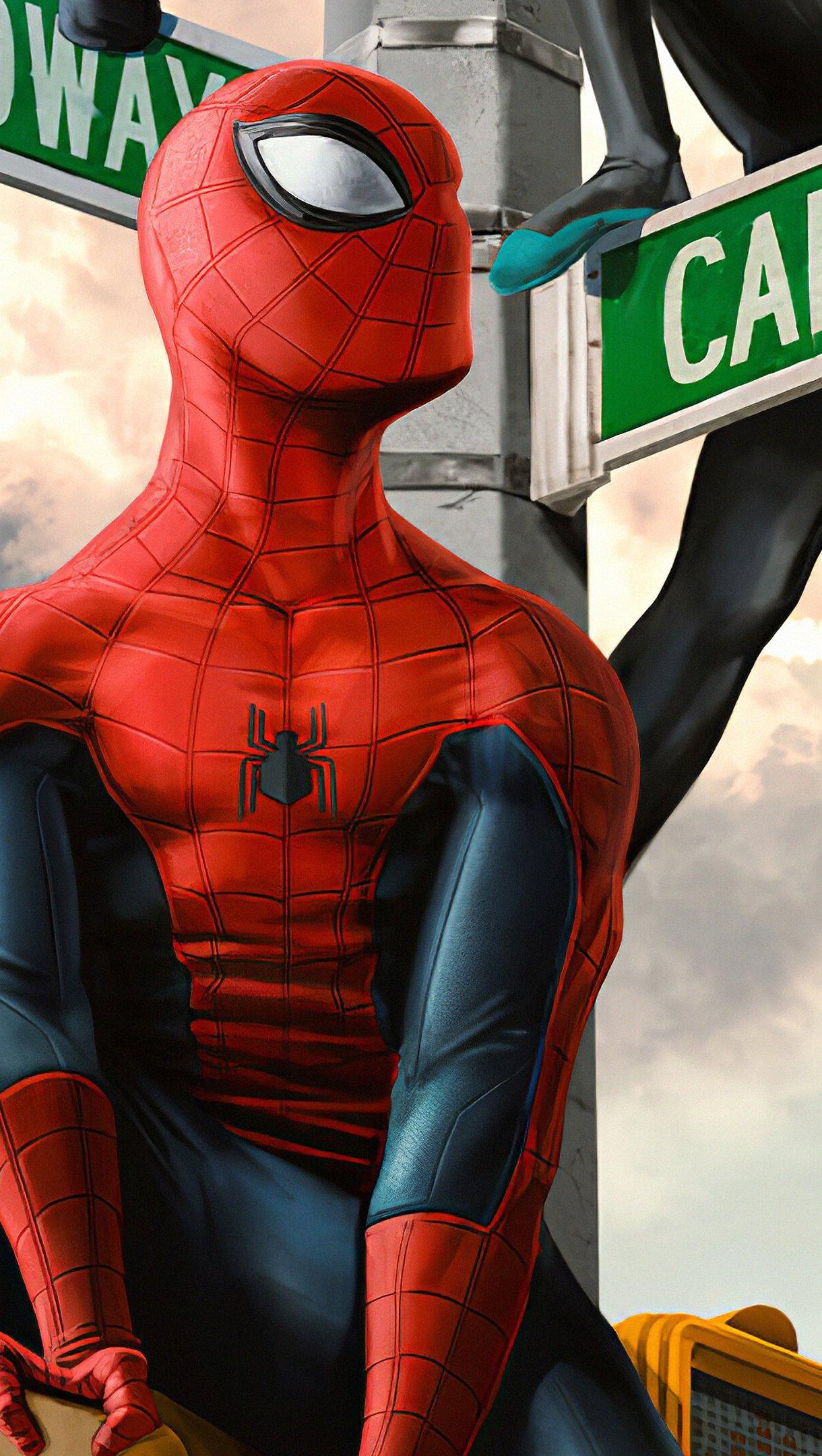 Fondos de pantalla Spiderman en Nueva York Vertical