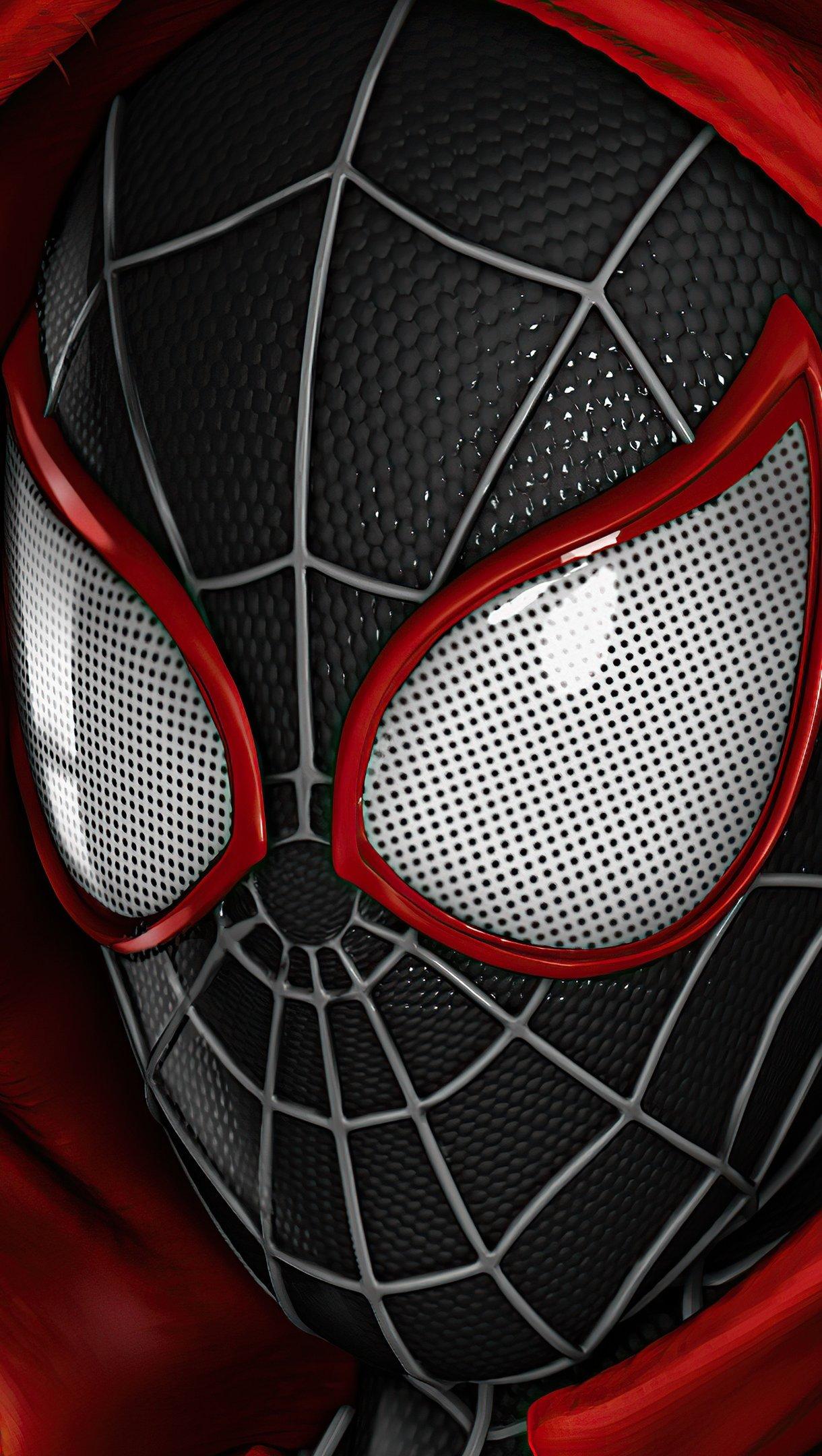 Wallpaper Spiderman Miles Morales Vertical