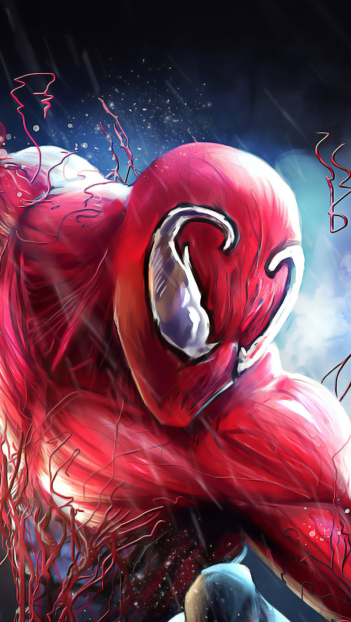 Wallpaper Spiderman with Carnage suit Vertical