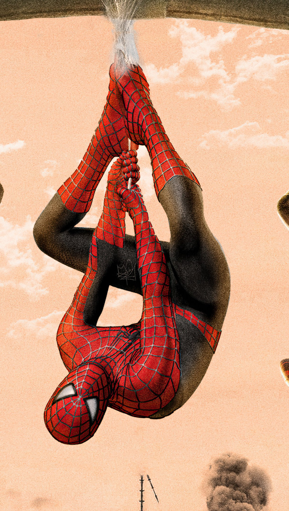 Wallpaper Spiderverse Tobey Maguire Tom Holland Andrew Garfield Vertical