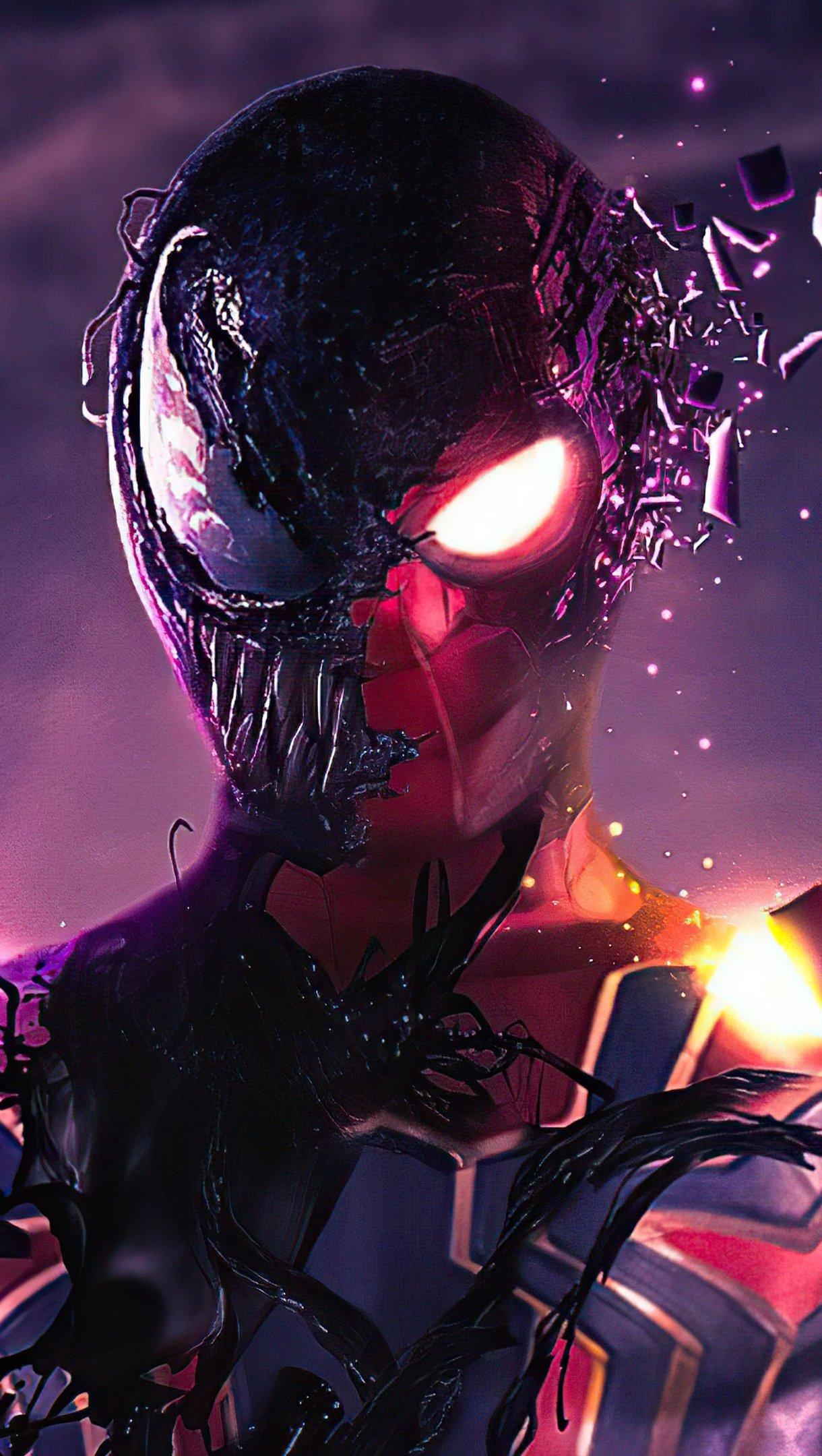 Fondos de pantalla Spidey Venom Vertical