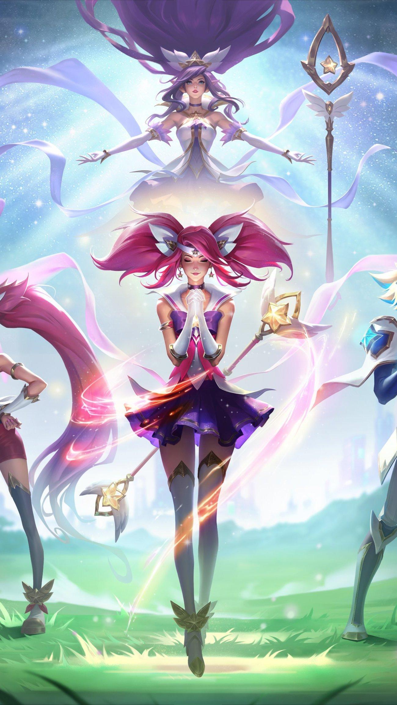 Fondos de pantalla Star Guardian, Ezreal, Lux, Janna Ezreal Wild Rift League of Legends Vertical