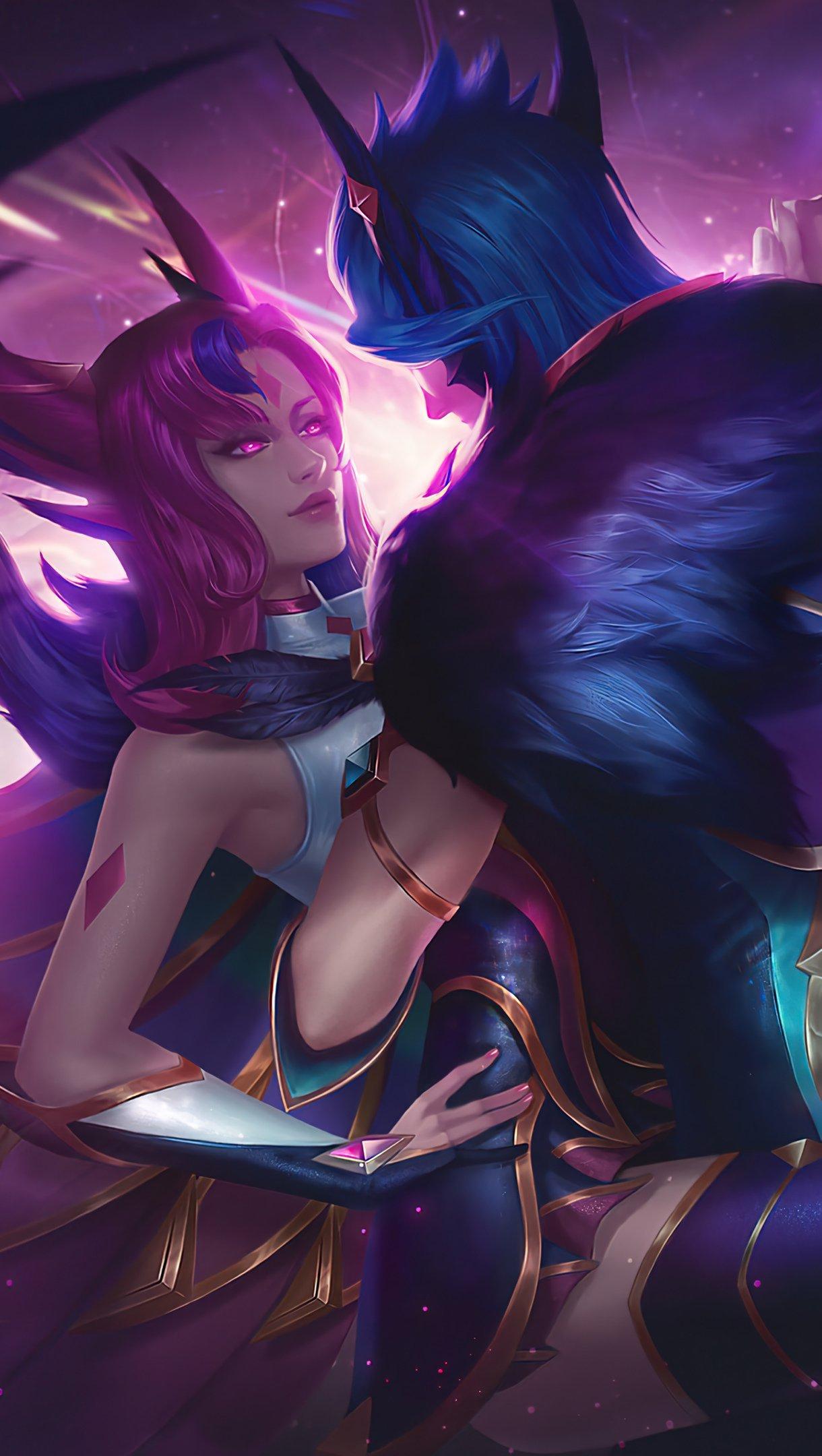 Fondos de pantalla Star Guardian Xayah Rakan League of Legends Vertical