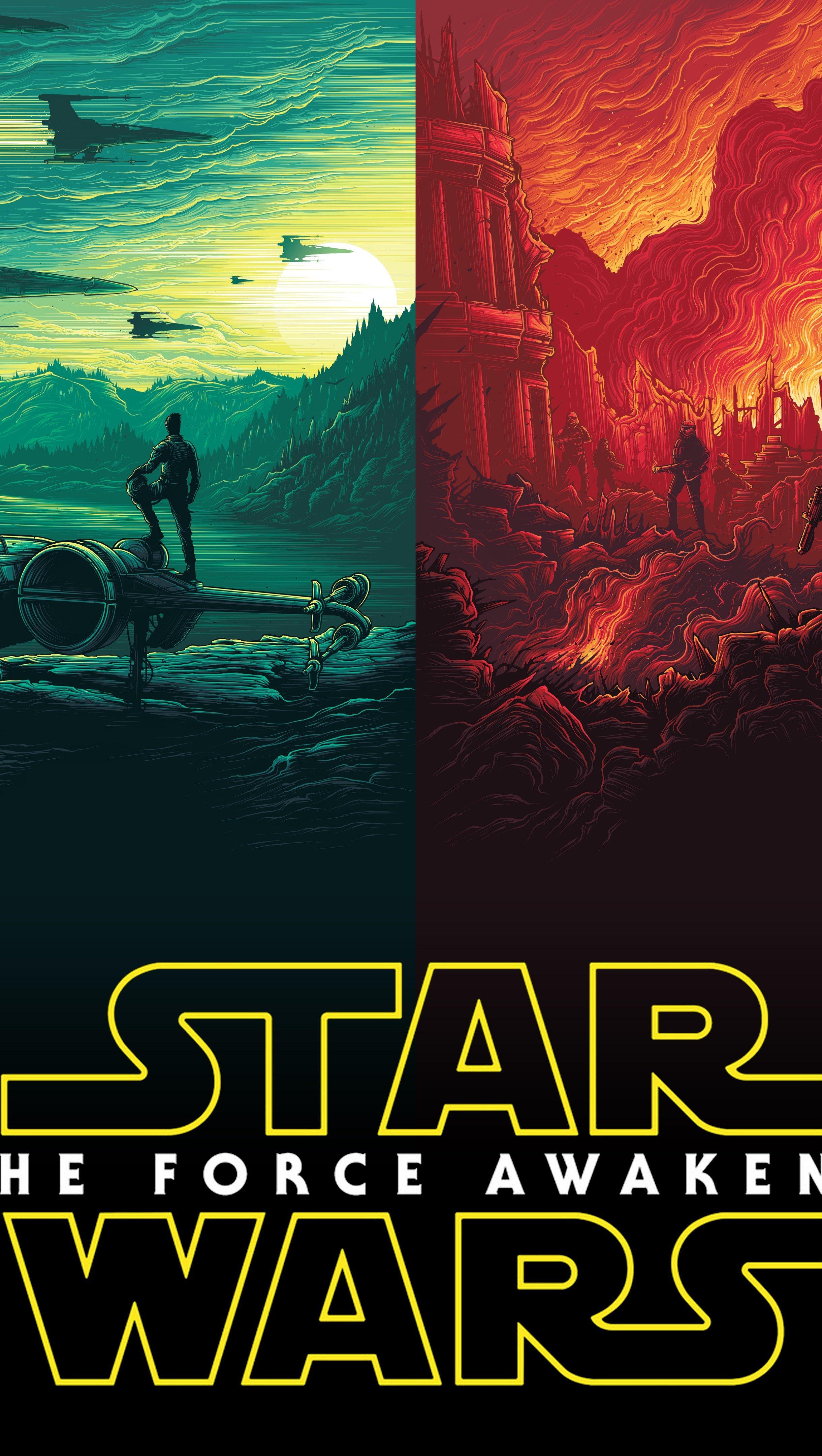 Fondos de pantalla Star Wars El despertar de la Fuerza Poster Logo Vertical
