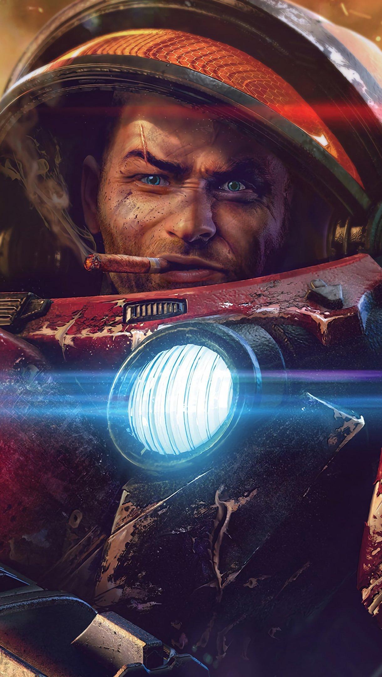 Fondos de pantalla Starcraft Terran Soldado ciencia ficción Vertical