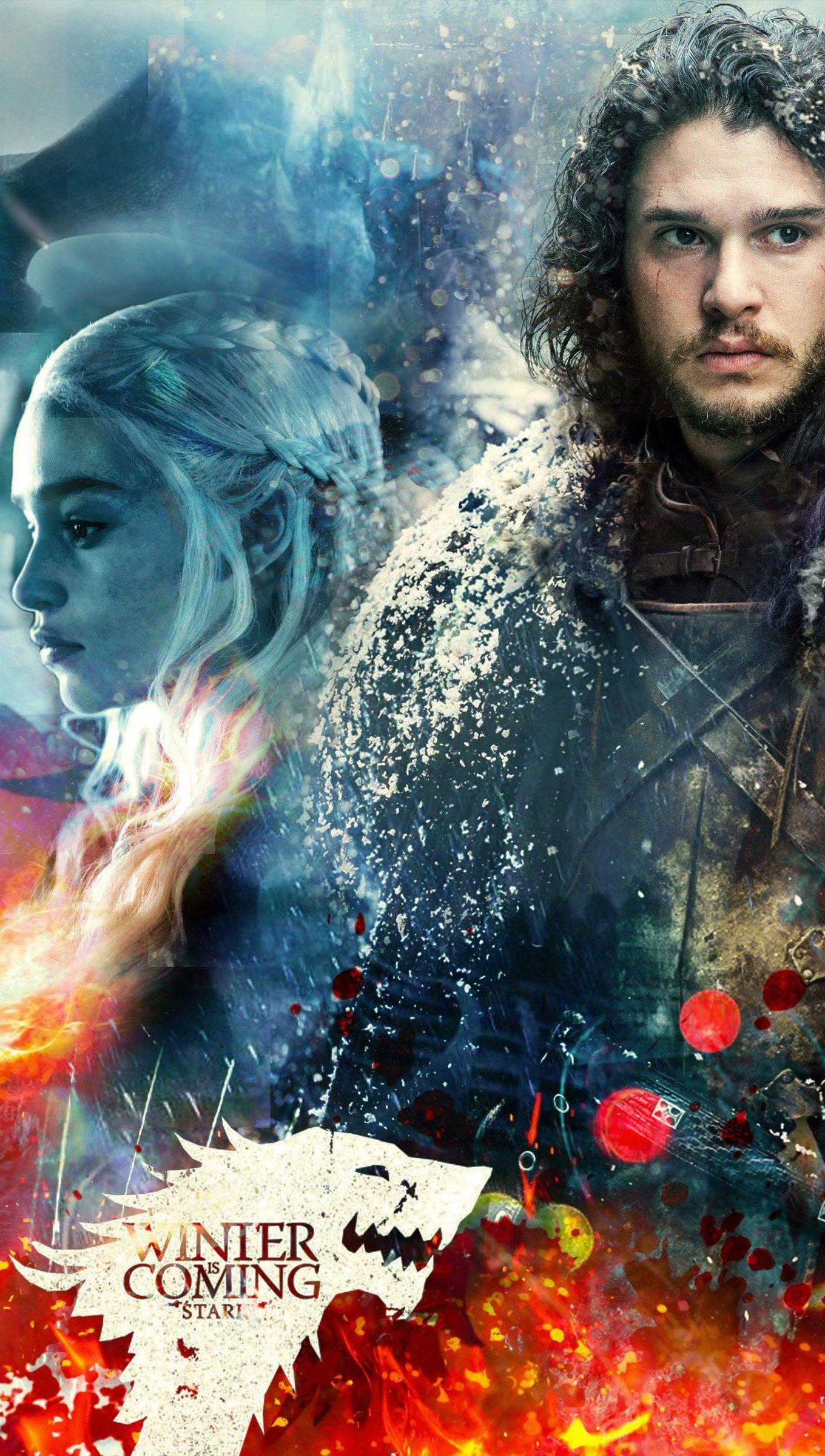 Wallpaper Stark Targaryen Game of Thrones Vertical