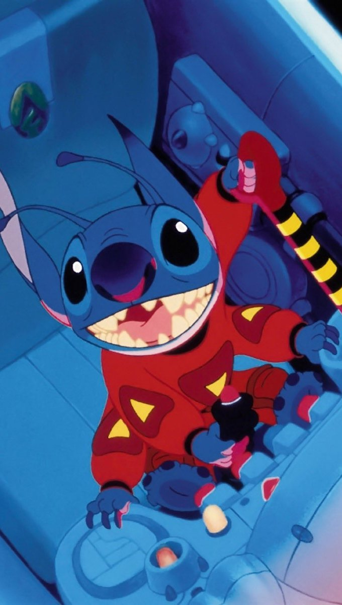 Fondos de pantalla Stitch en Nave espacial Vertical