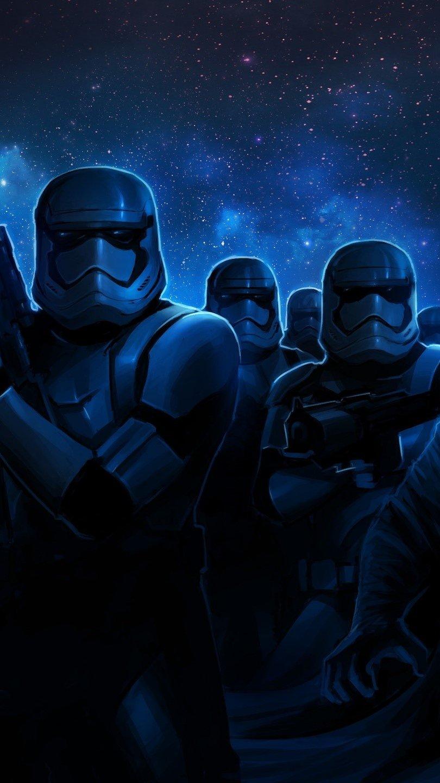 Fondos de pantalla Stormtroopers y Darth Vader Vertical