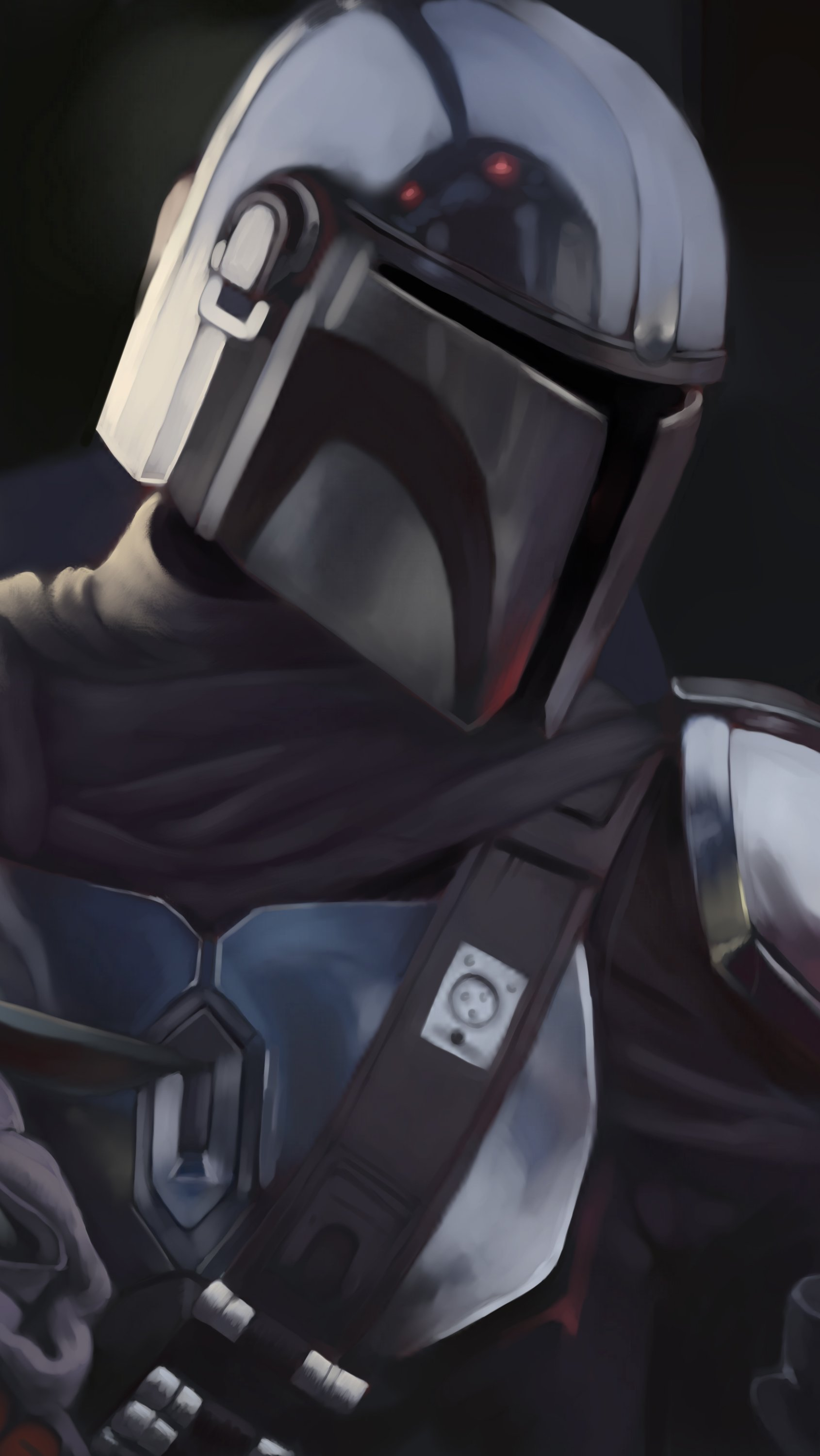 Wallpaper Strormstrooper and Yoda in The Mandalorian Vertical