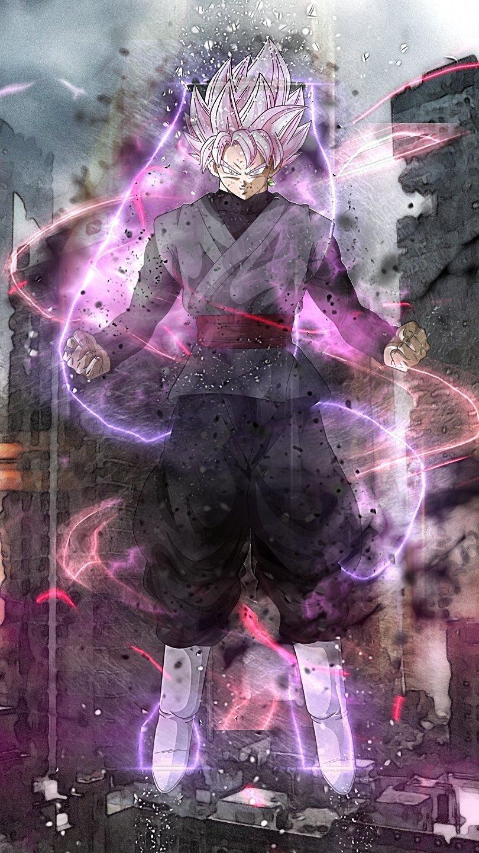 Fondos de pantalla Anime Super Saiyan Rosado Black Goku Dragon Ball Super Vertical