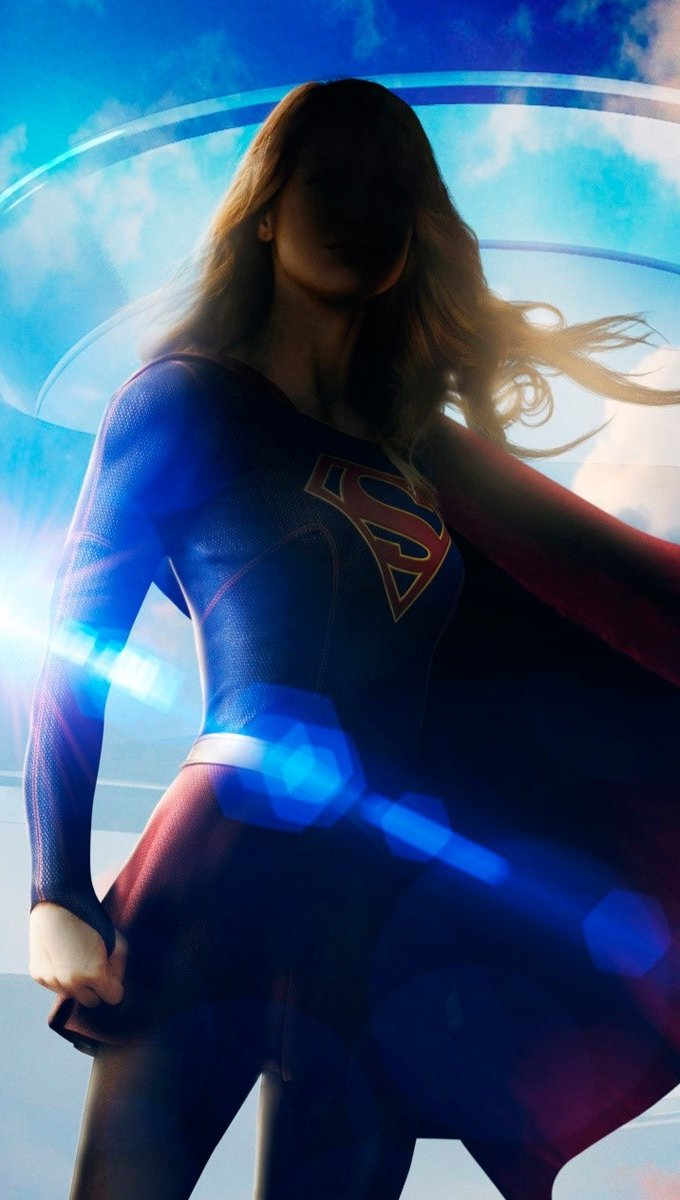 Wallpaper Supergirl Vertical