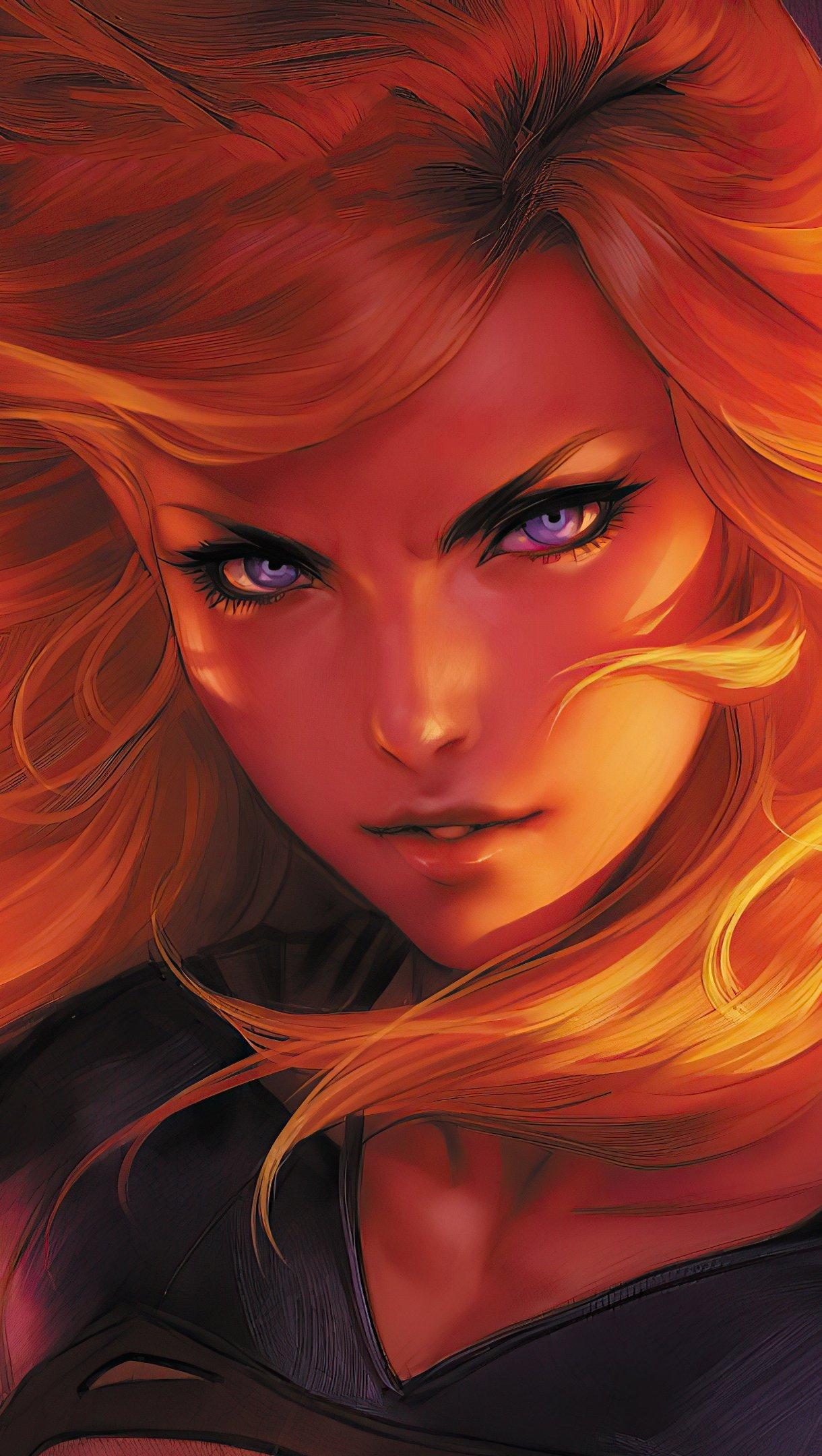 Fondos de pantalla Supergirl en fuego Fanart Vertical