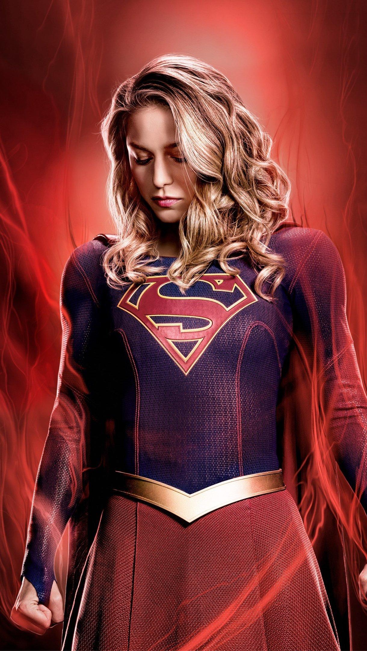 Wallpaper Supergirl Season 4 Vertical