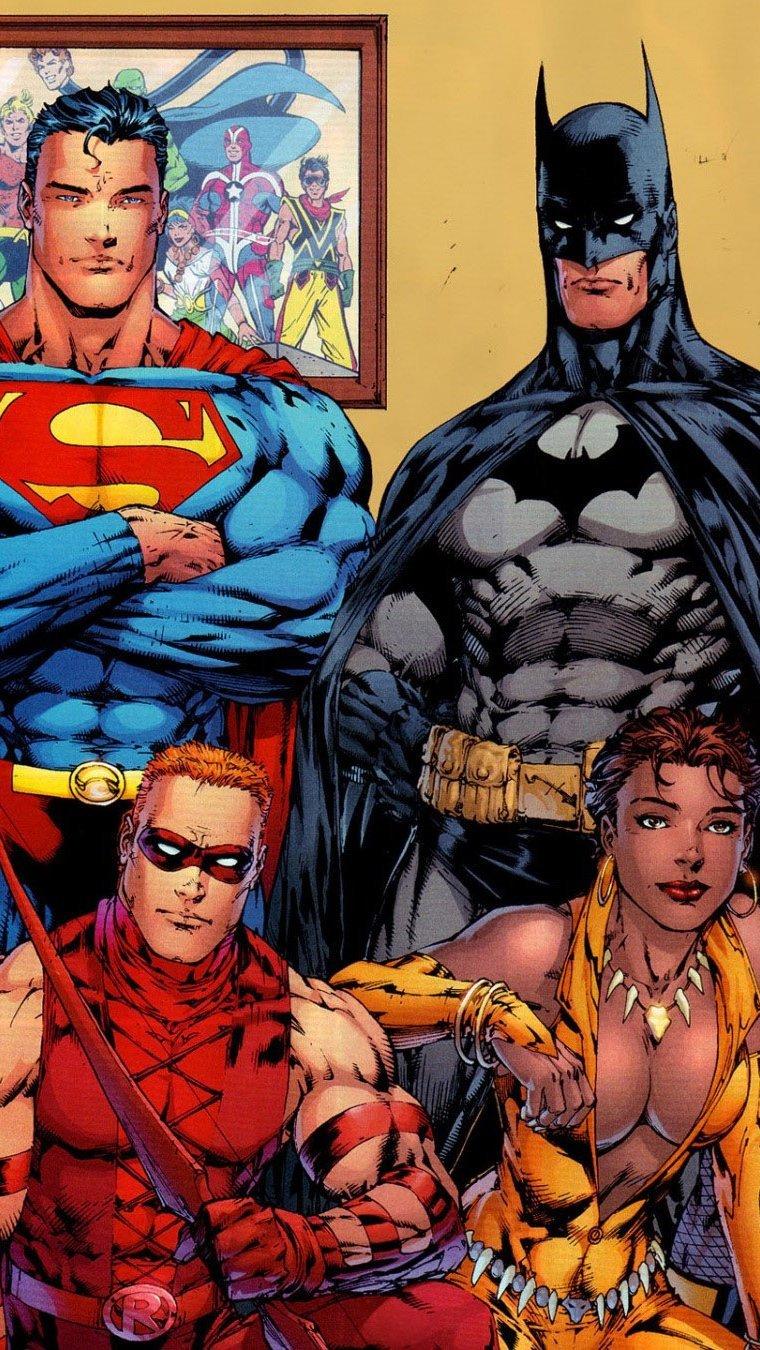 Wallpaper DC Comics superheroes Vertical