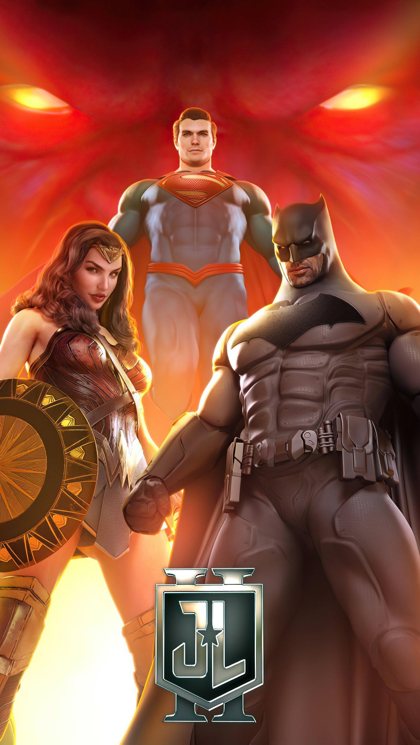 Wallpaper Justice League Superheroes Vertical