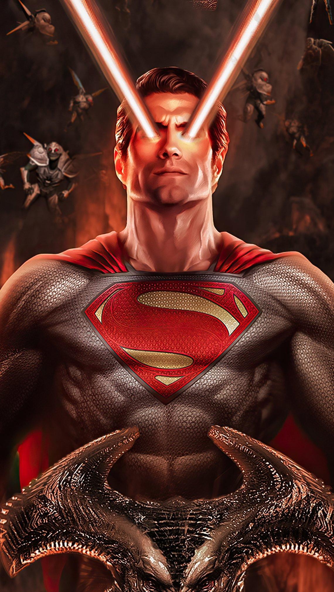 Fondos de pantalla Superman con laser en ojos Vertical