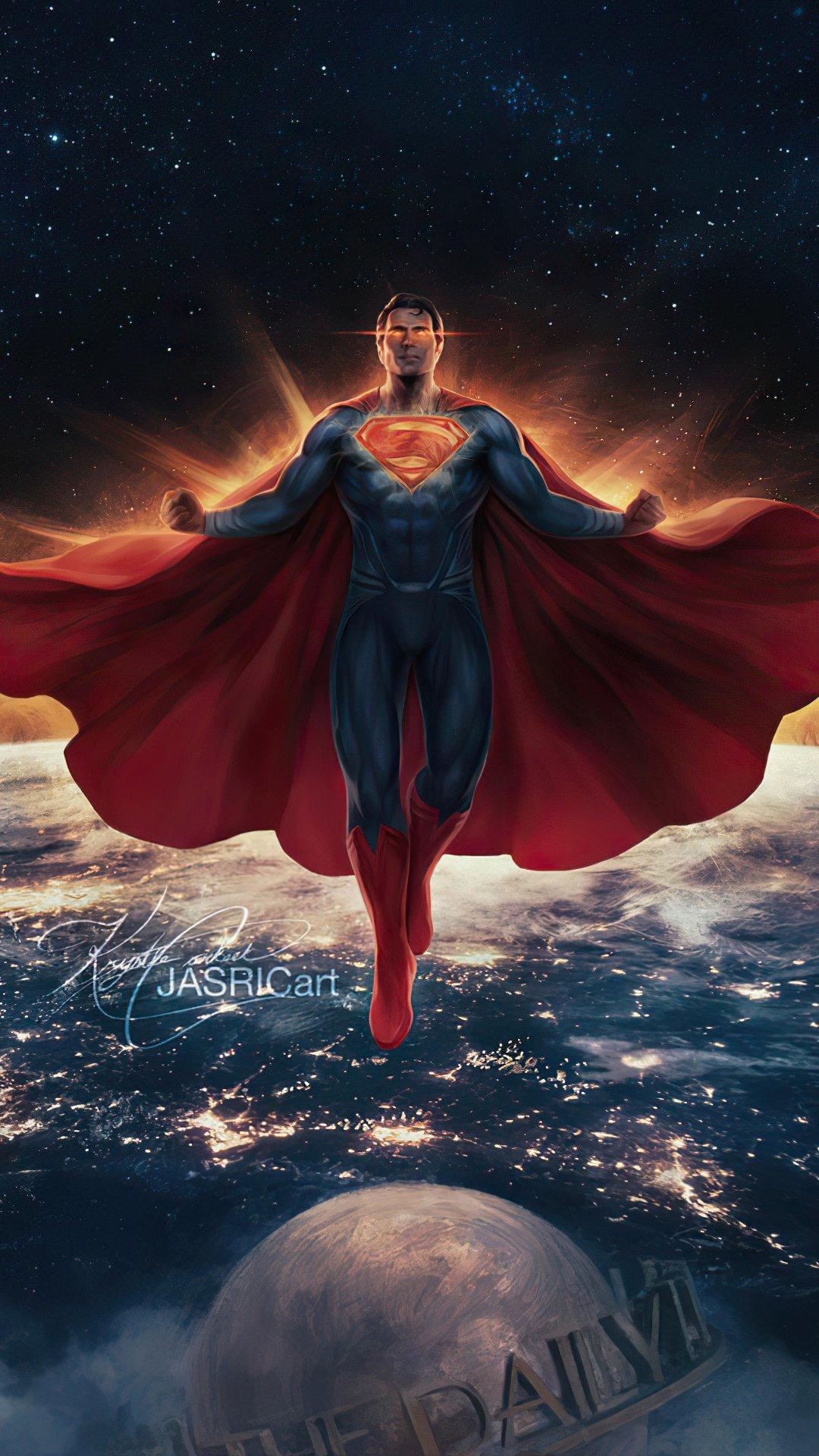 Wallpaper Superman classic suit Justice League Vertical