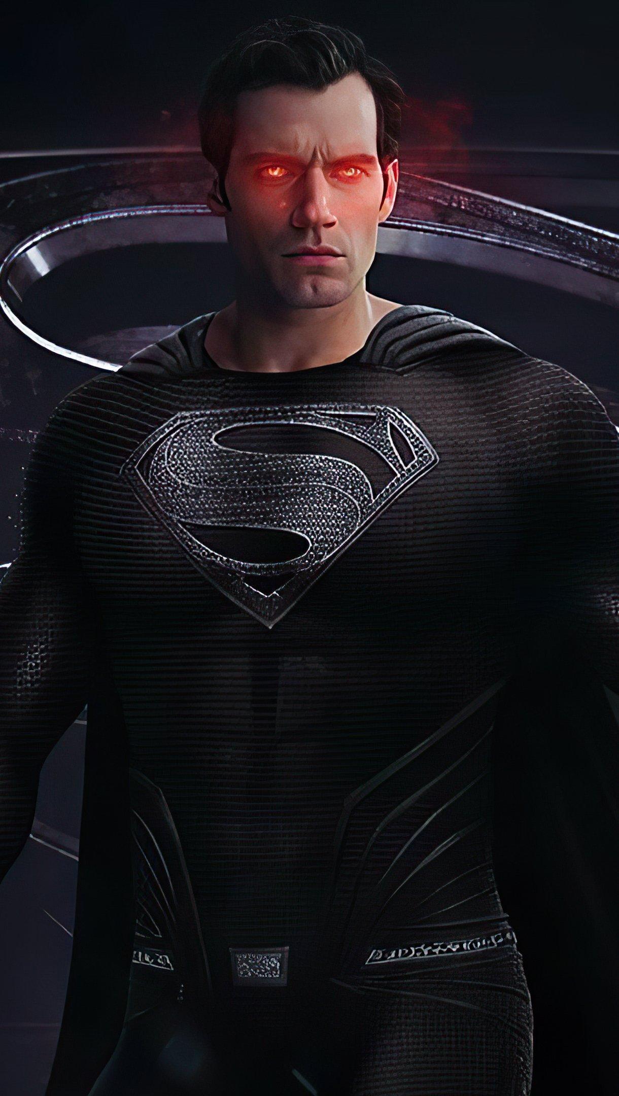 Fondos de pantalla Superman con traje negro Vertical