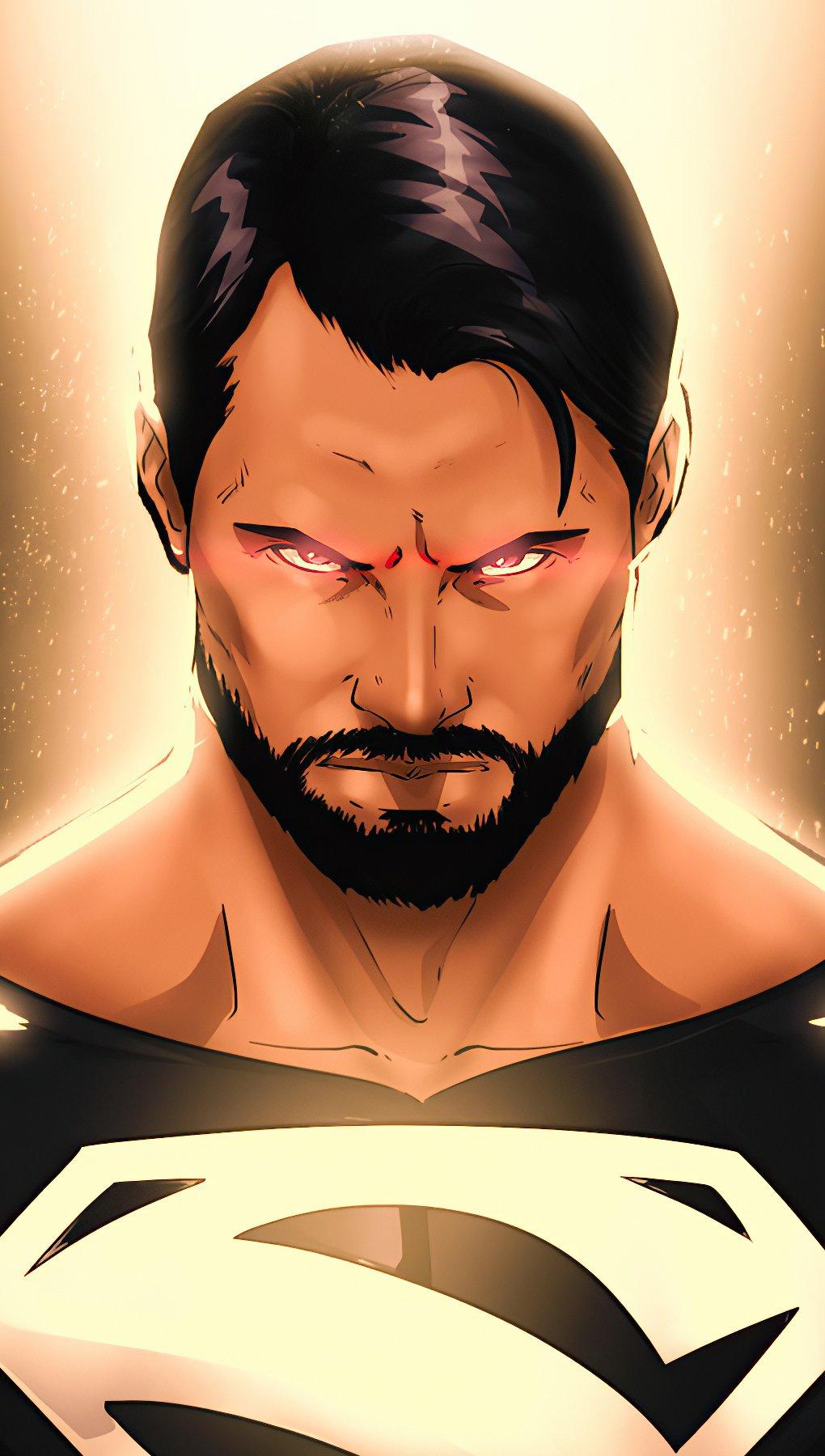 Wallpaper Superman with black suit Vertical