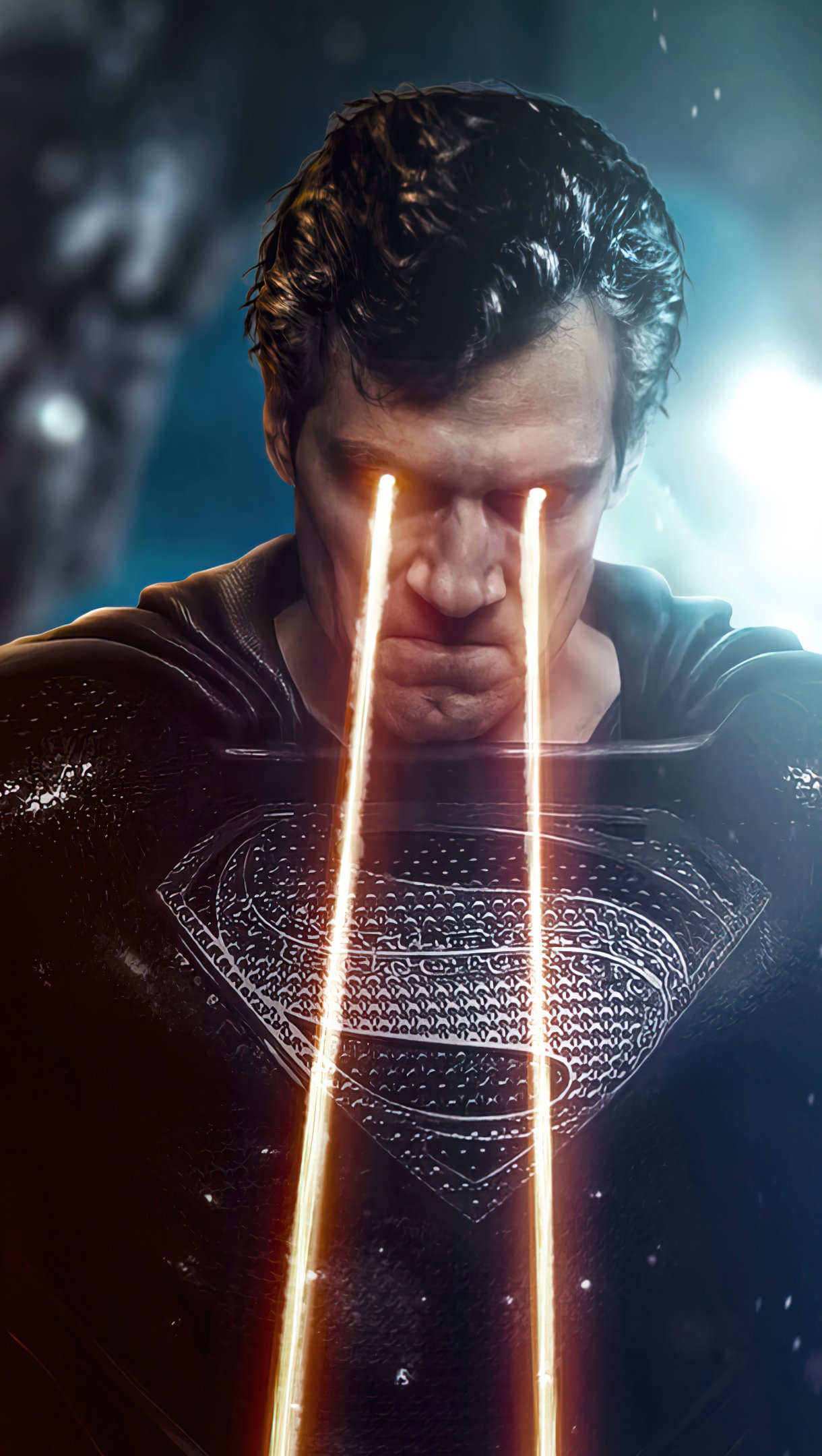 Wallpaper Superman with heat vision Vertical