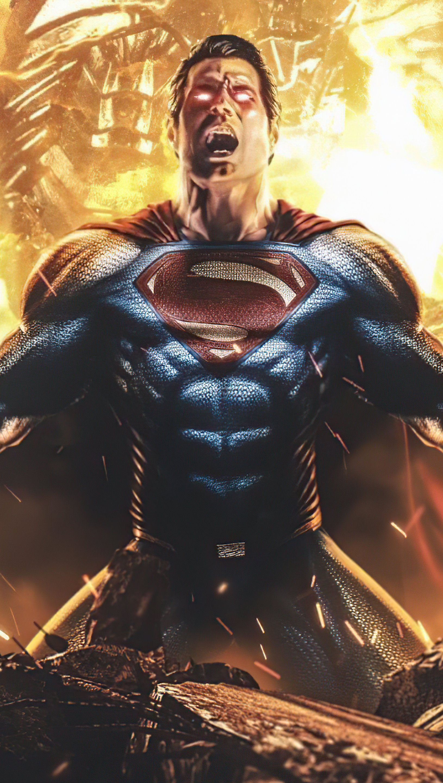 Fondos de pantalla Superman contra Darkseid Snyder Liga de la Justicia Vertical